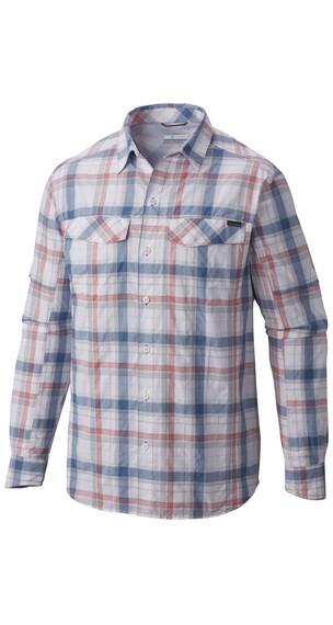 Columbia Silver Ridge Plaid - Camiseta de manga larga Hombre - gris/rojo